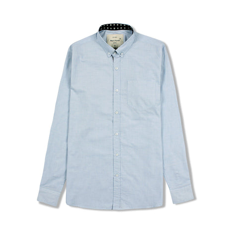 MARC FENDI-sky blue chambray button down shirt