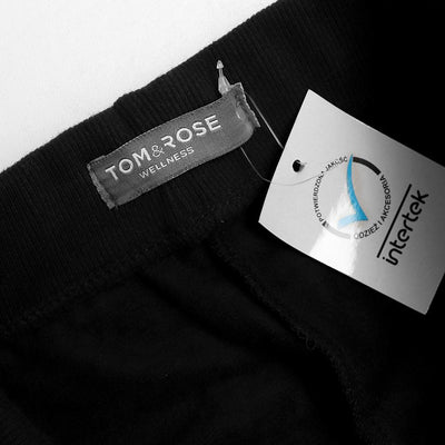Tm & rose black 'slim straight' fleece jogger pant (1452)