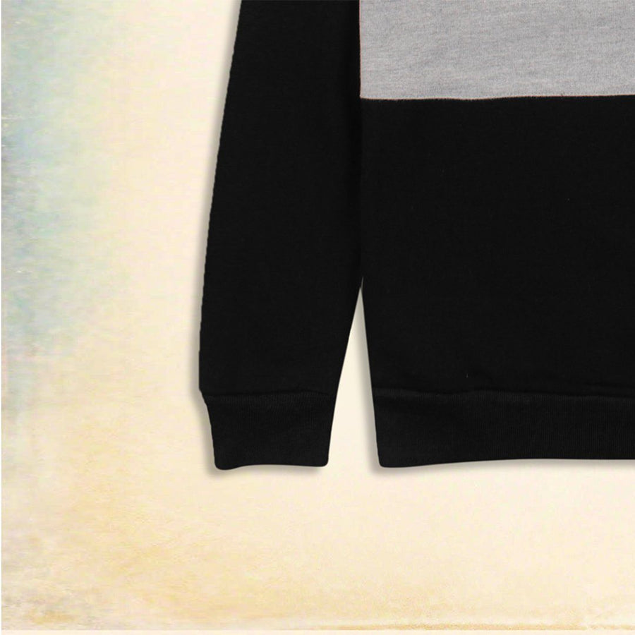 ZARA-black color block fleece sweatshirt