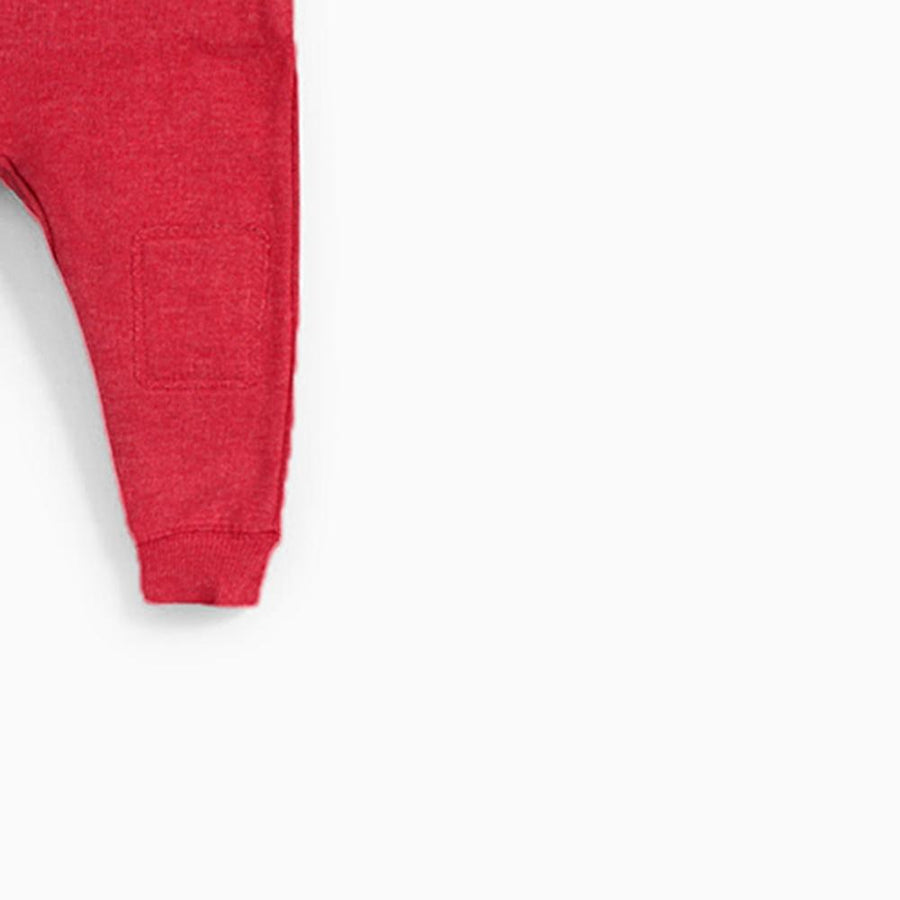 ZARA-kids red jogger trouser with knee patches (687)