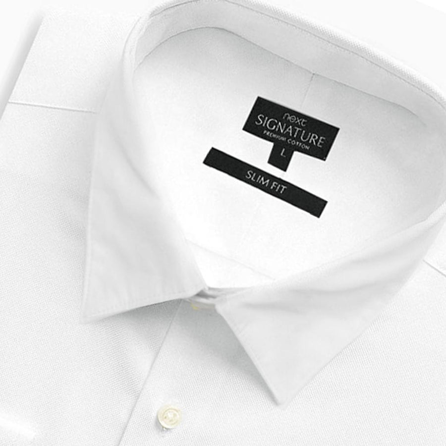 NEXT-exclusive white 'slim fit' premium cotton shirt