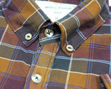 MARC FENDI-madras button down shirt