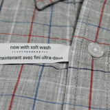 OLD NAVY-classic plaid fine check shirt