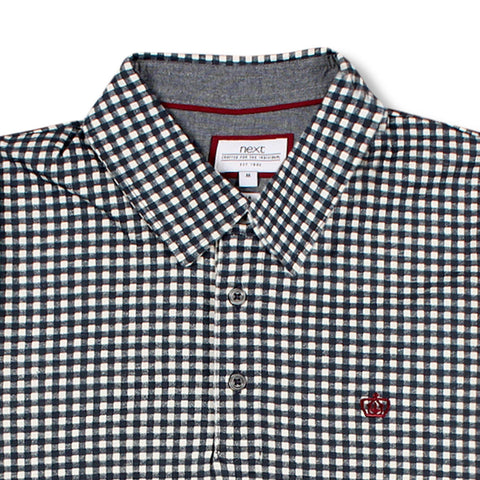 NEXT-gingham check 'slim fit' polo