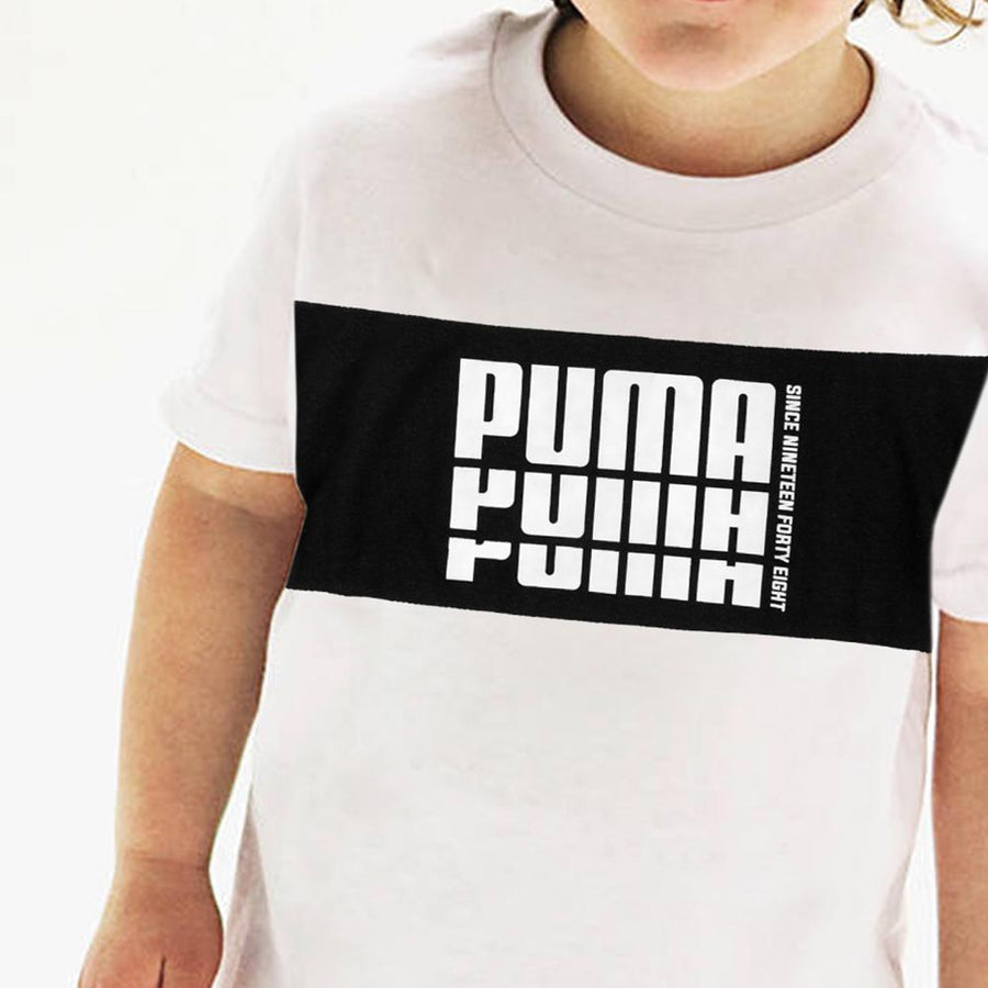 PUMA-boys white nineteen forty t-shirt (707)