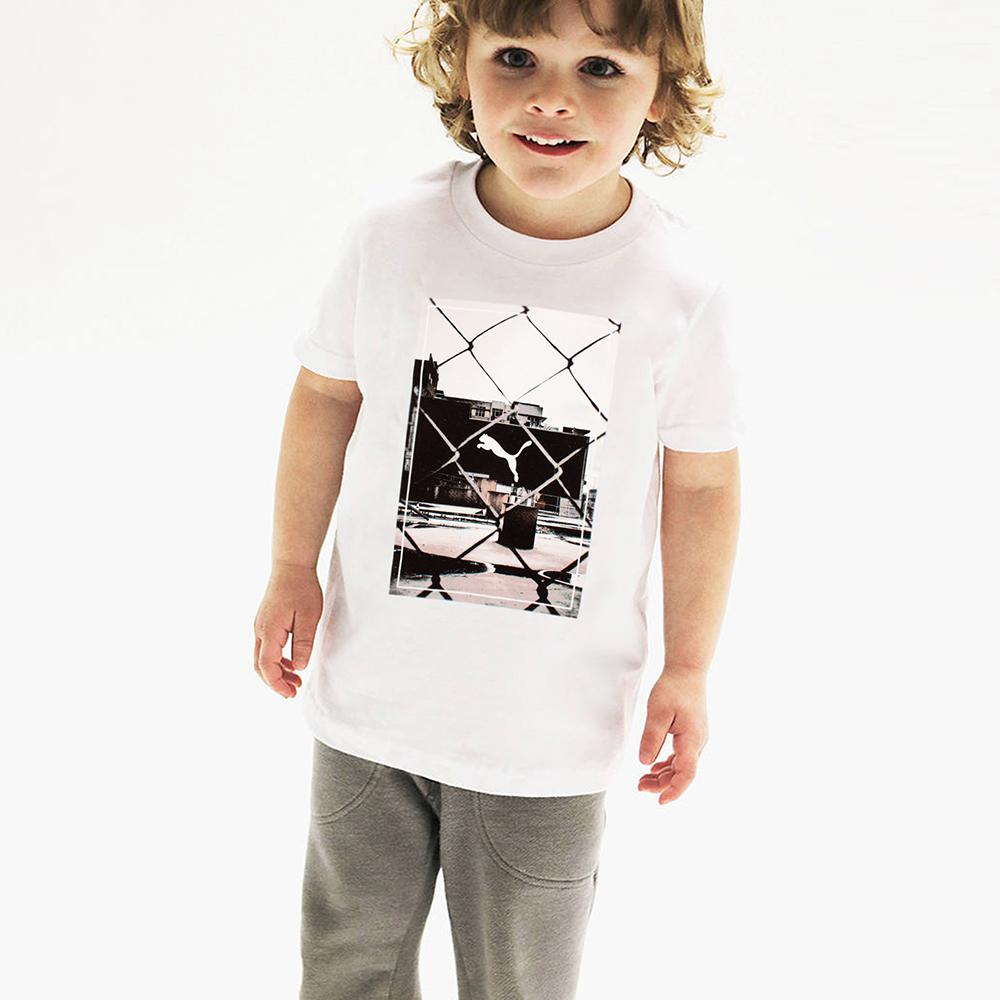 Boys white printed t-shirt (717)