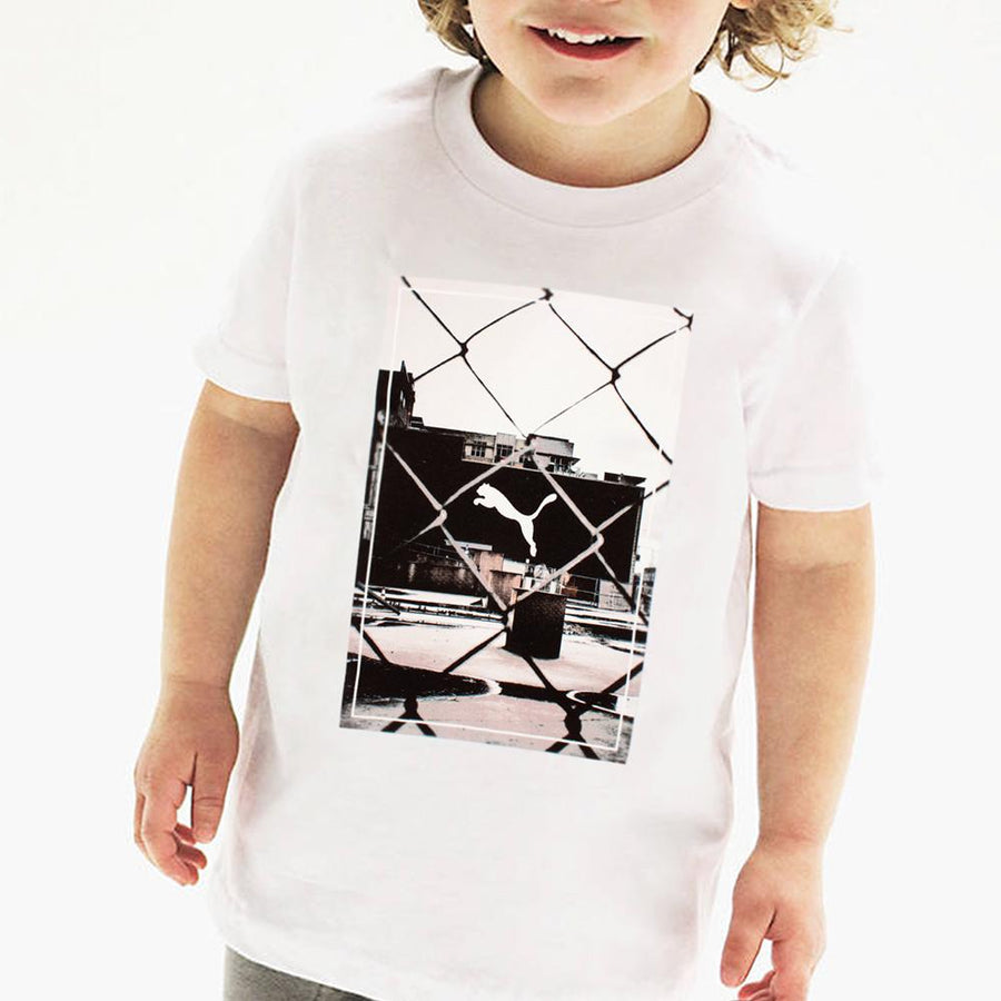 PUMA-boys white printed t-shirt (717)
