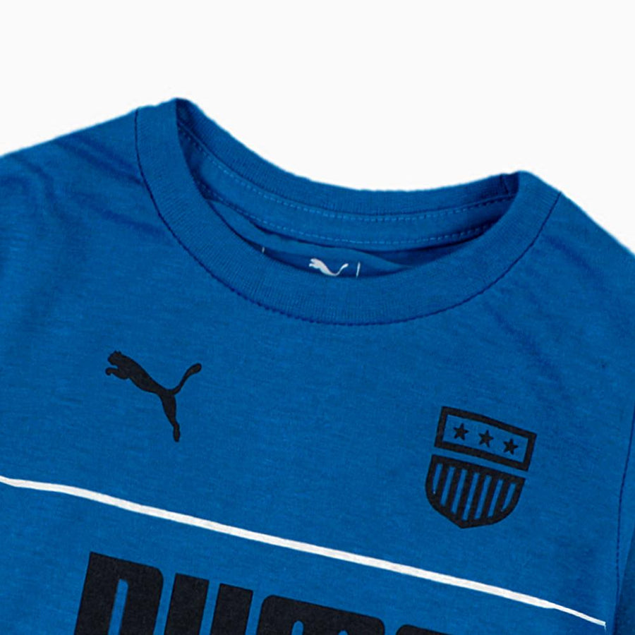 PUMA-boys blue printed t-shirt (718)