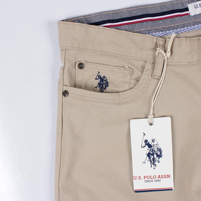 U.S. POLO ASSN-exclusive beige 'regular fit' cotton chino