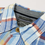 FAT FACE-classic fit bugle cotton linen short-sleeved shirt