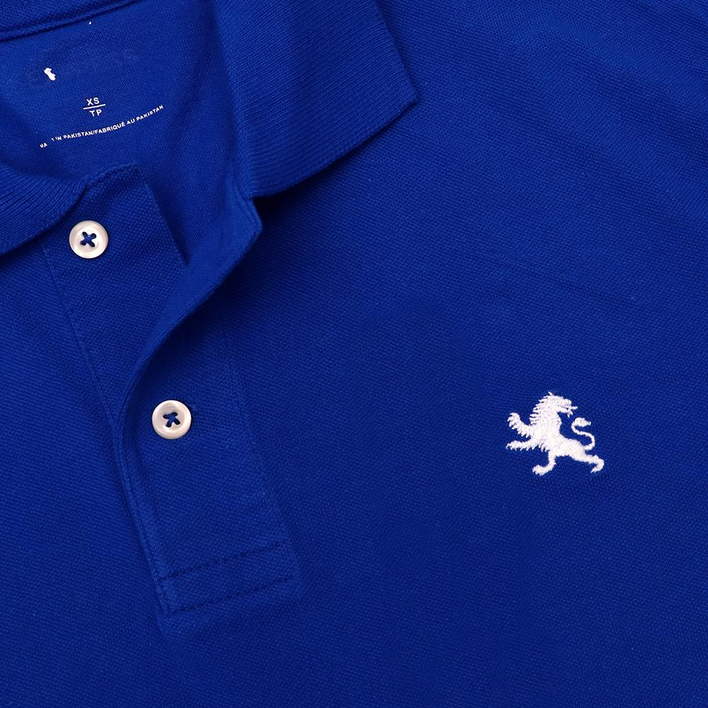 Embroidered logo cotton polo (1758)