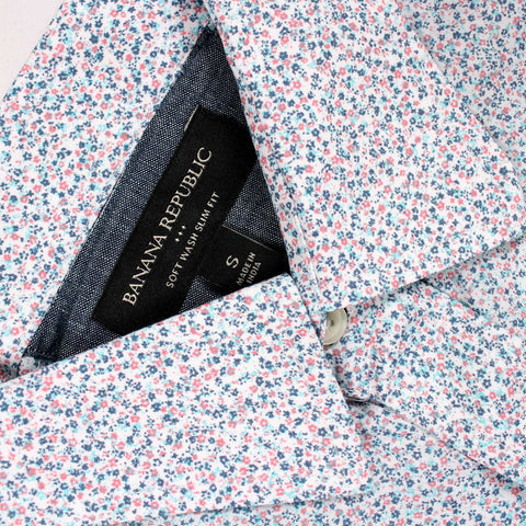 BANANA REPUBLIC-mini floral print shirt