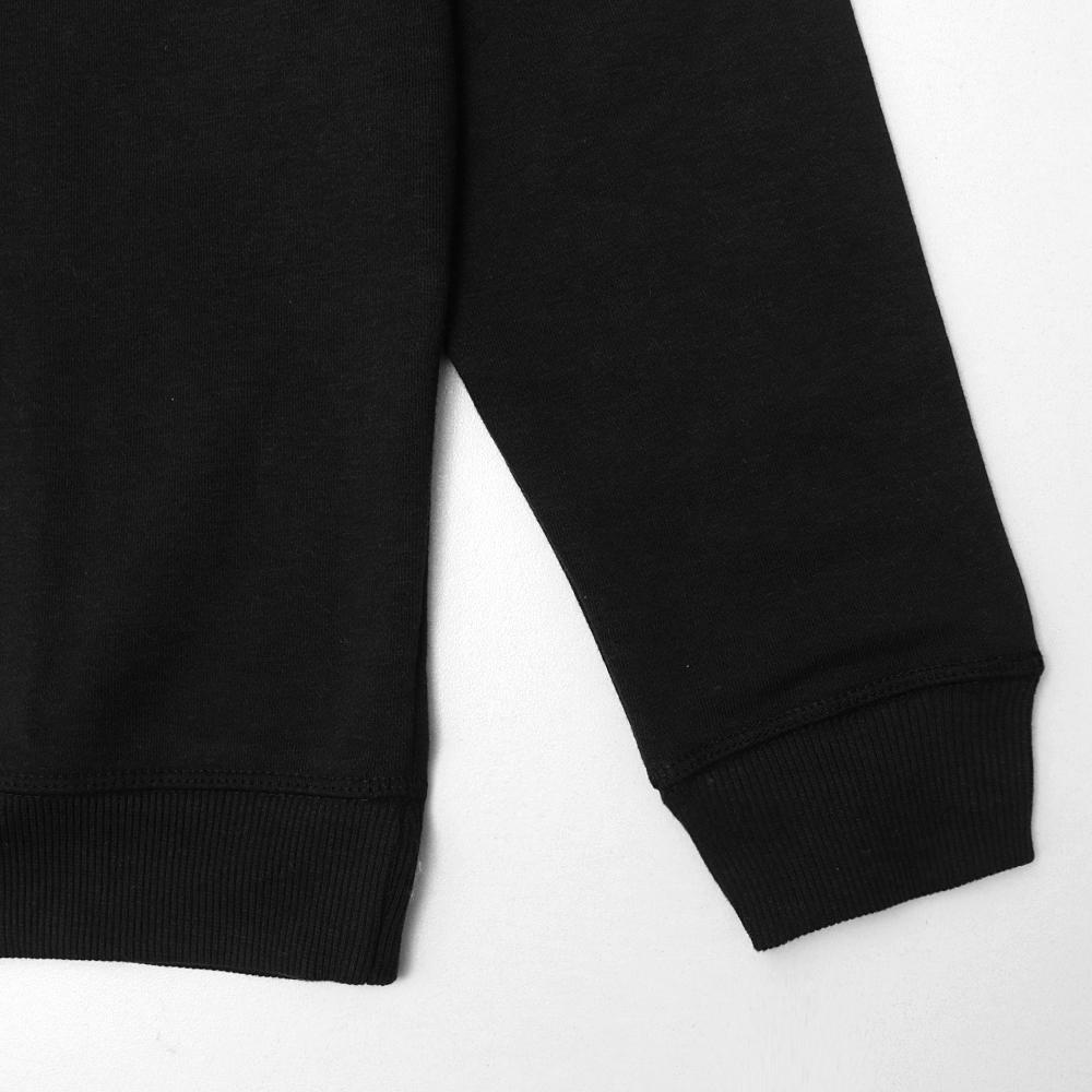 Men Brushed Black Fleece sweatshirt (30010)