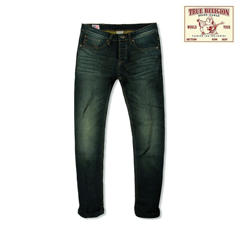 TRUE RELIGION-exclusive azure 'slim fit' comfort stretch jeans