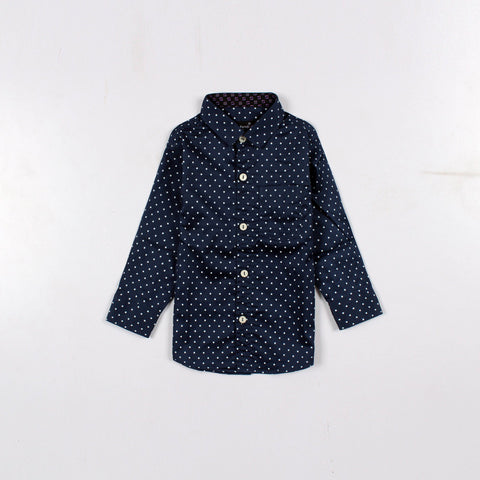MARC FENDI-boys polka dot printed shirt