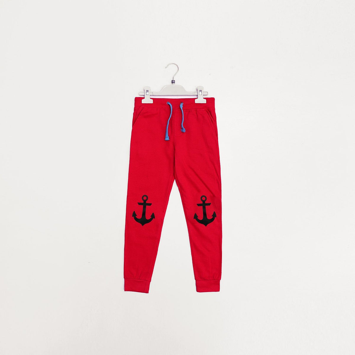 Pepco boys red 'slim fit' printed jogger trouser (1496)
