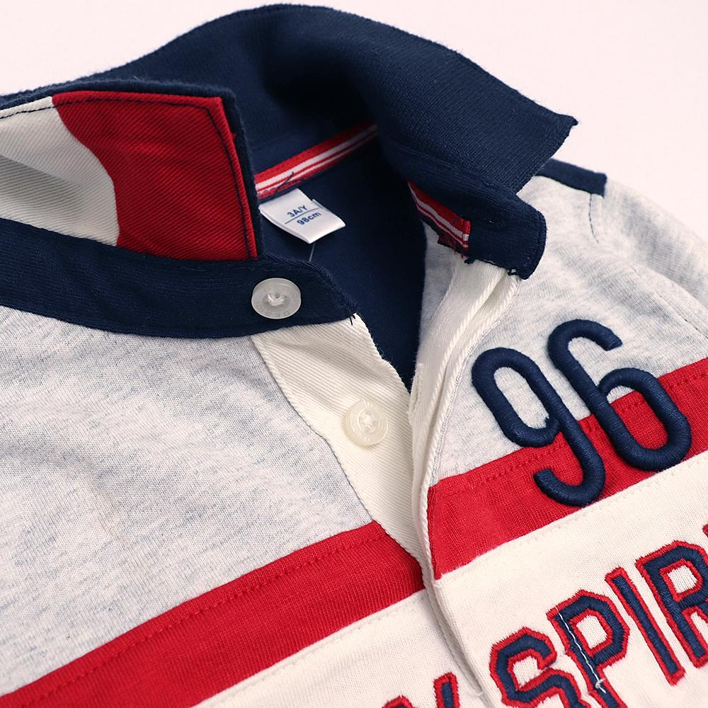 Exclusive boys 'play spirit' embroidered rugby polo (1773)