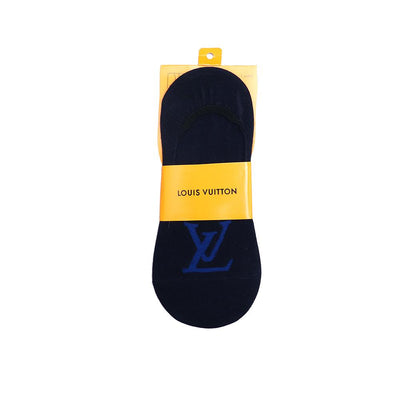 Monogram navy no show socks (1230)