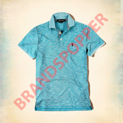U.S. POLO ASSN-custom fit turquoise polo