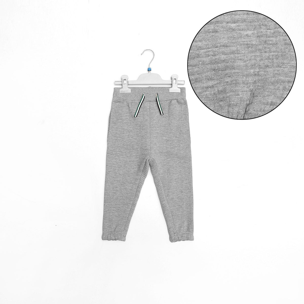 Orchstra kids grey contrast stitch quilted joggers (1508)