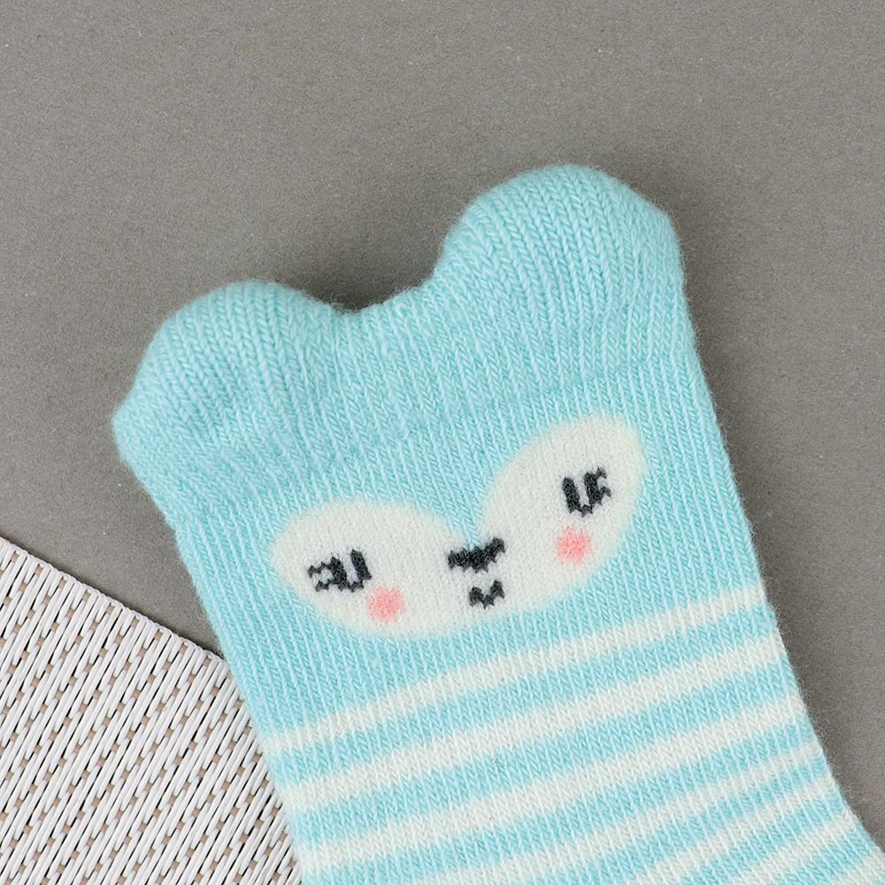 Baby Smiley Face Soft Socks For Newborn to 6 Months (30230)