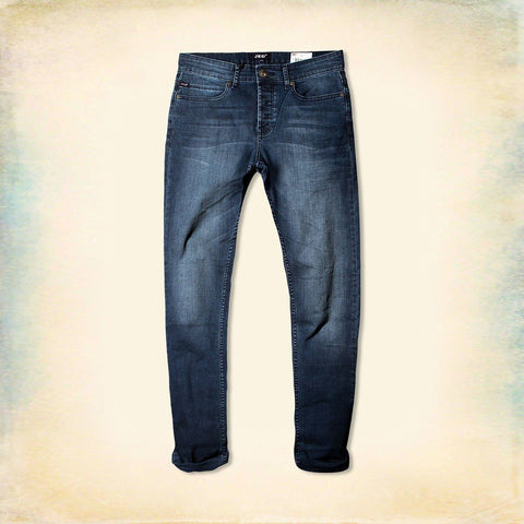 JED ORIGINAL LONDON-dark wash 'slim skinny' stretch jeans