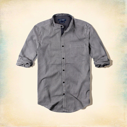 GENTLEMAN FARMER-band collar premium cotton shirt