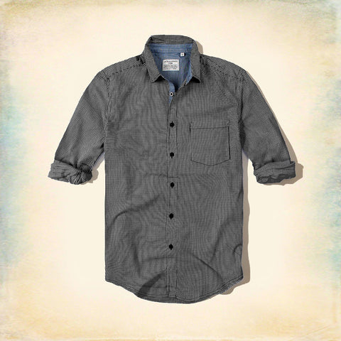JACK & JONES-mini black check 'slim fit' shirt
