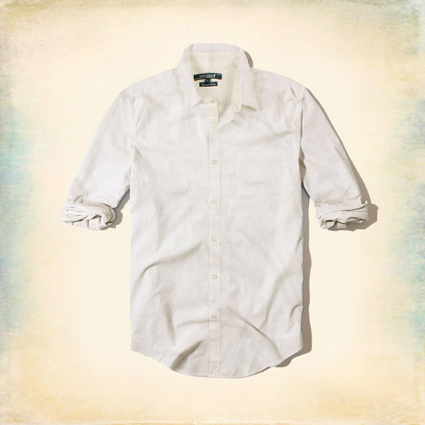 GENTLEMAN FARMER-textured weave white premium cotton shirt