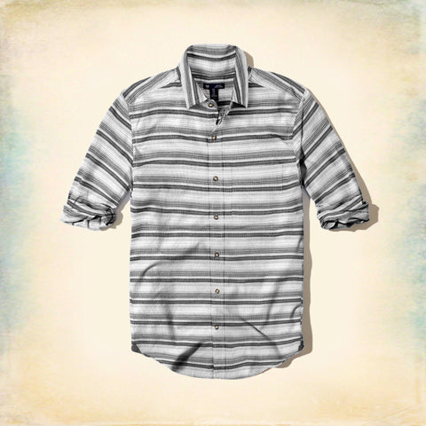 GAP-batik stripe 'classic fit' shirt