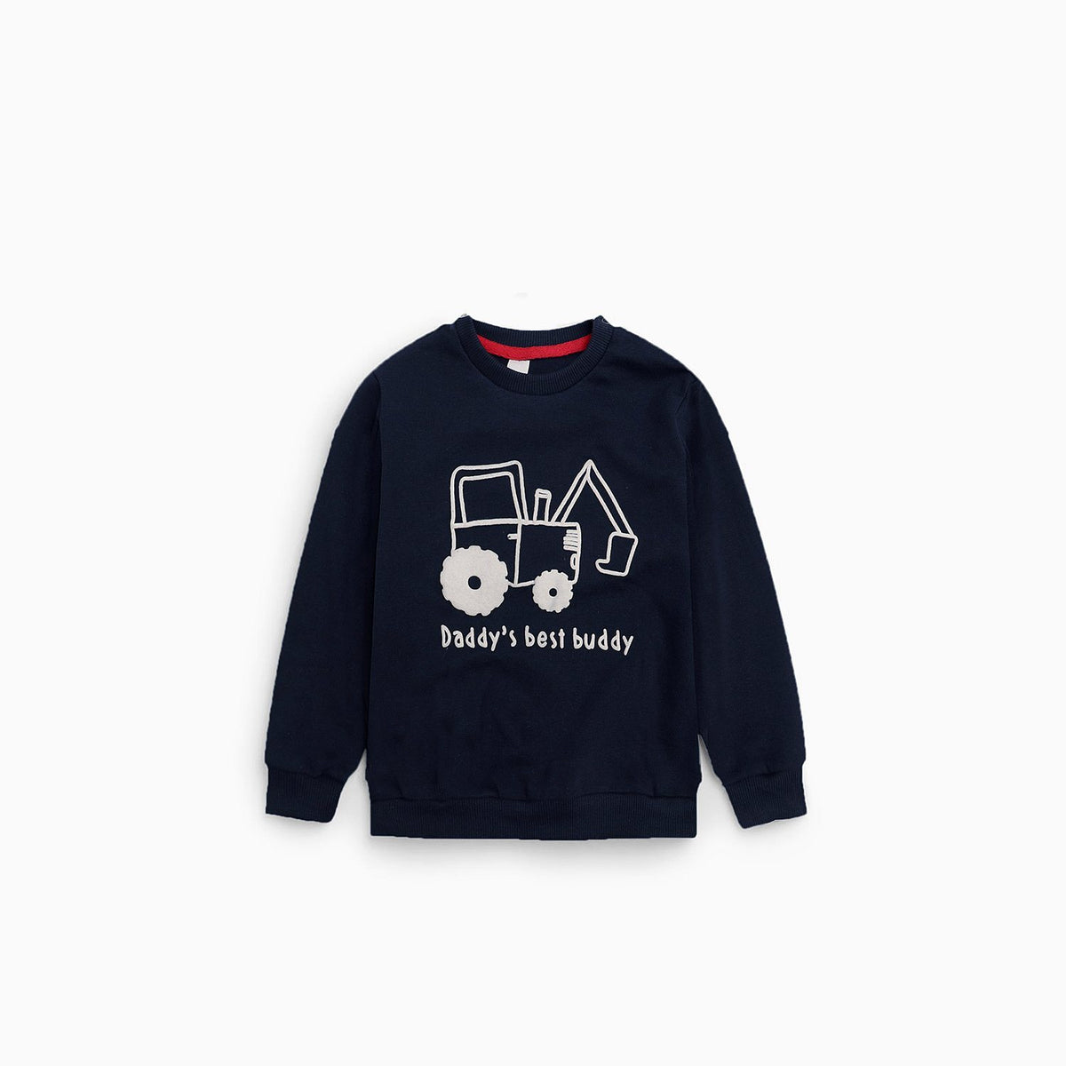 Baby club boys digger printed sweatshirt (1533)