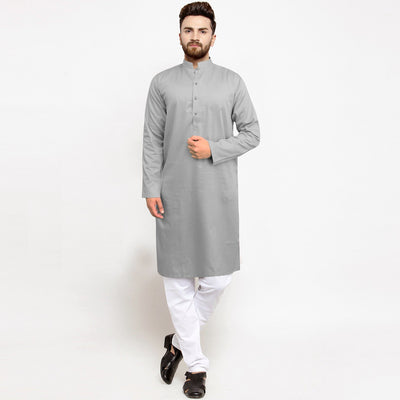 AXIS-light grey premium quality kurta (729)