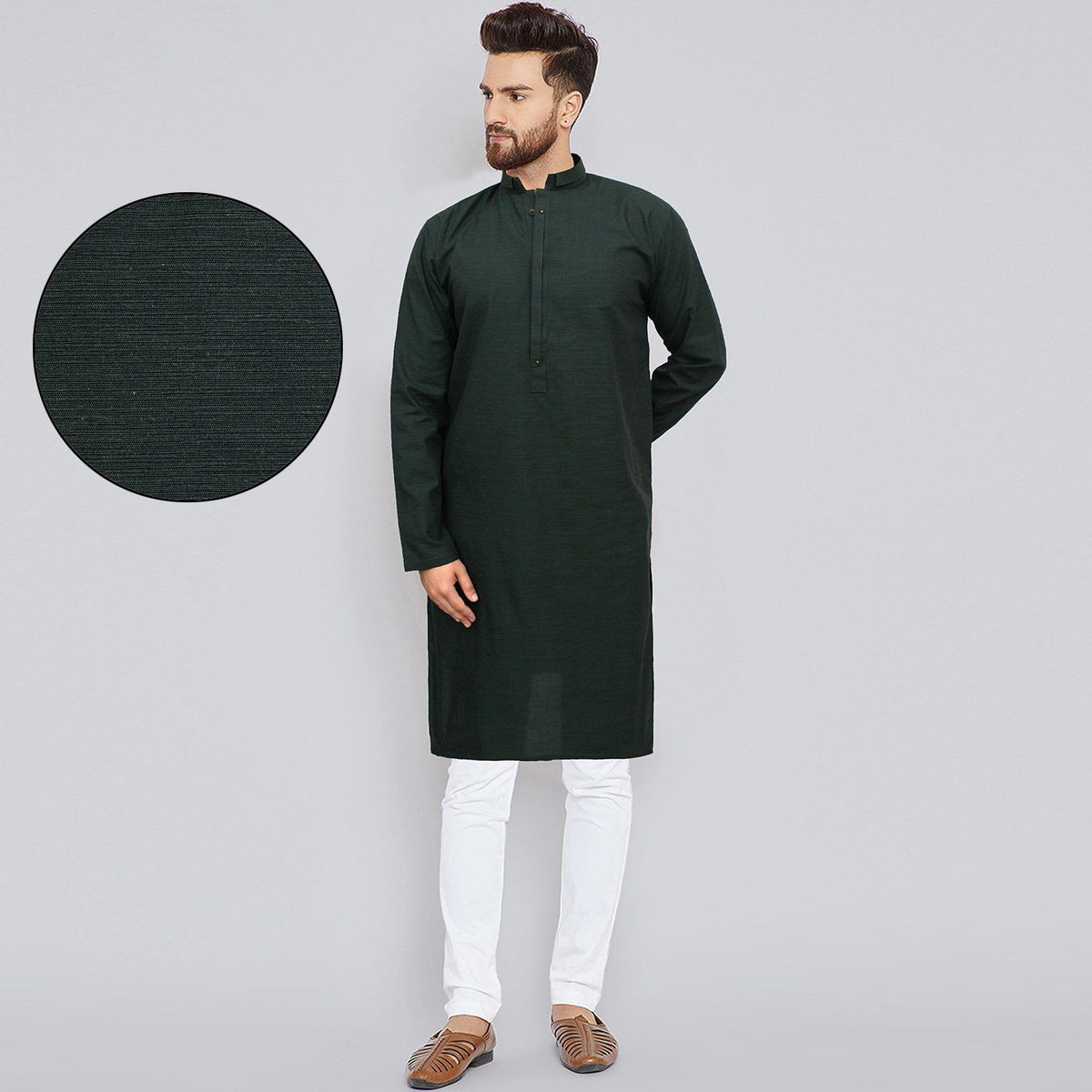 AXIS-dark green premium quality kurta (720)