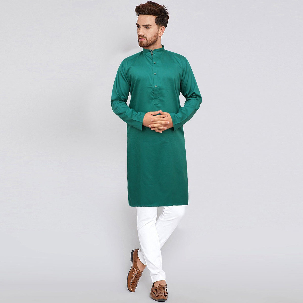 AXIS-sea green premium quality kurta (725)