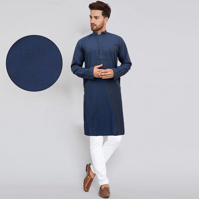 AXIS-blue self lining premium quality kurta (734)