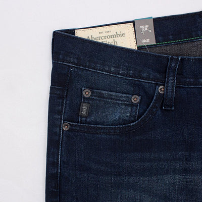ABERCROMBIE & FITCH-blue jacob 'slim fit' comfort stretch jeans