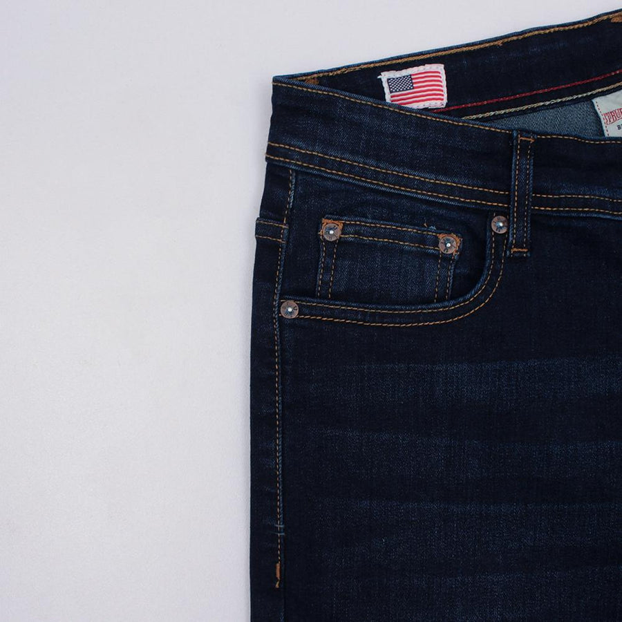 TRUE RELIGION-exclusive kastel 'slim fit' stretch jeans