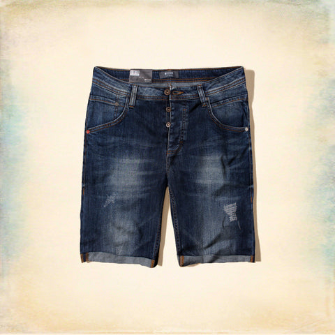MUSTANG-dark wash stretch michigan denim short