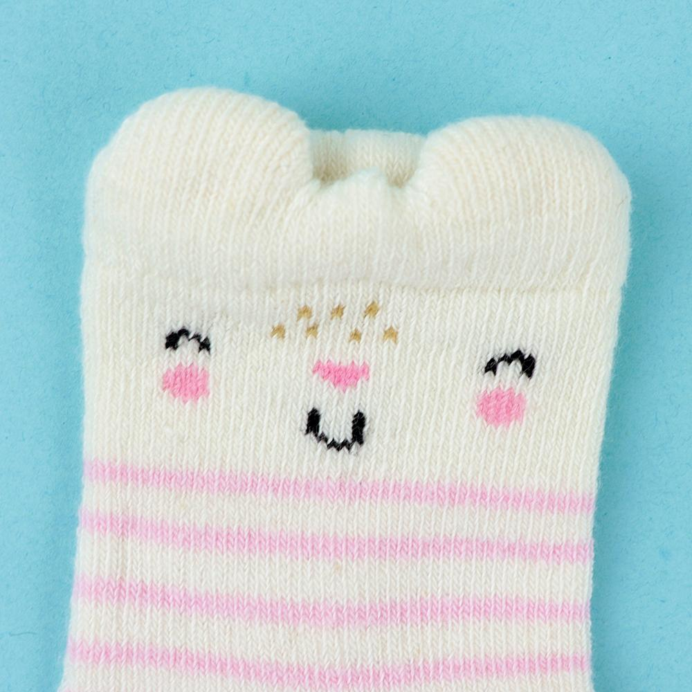 Baby Smiley Cartoon Soft Socks For Newborn to 6 Months (30238)