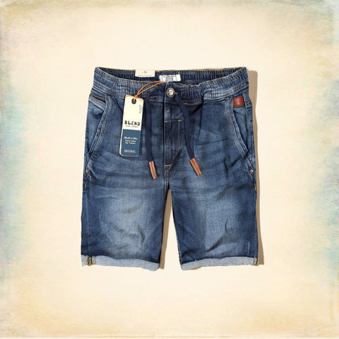 BLEND-blue twister 'slim fit' stretch cross pocket denim short