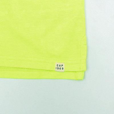 Boys neon green short sleeve polo (804)