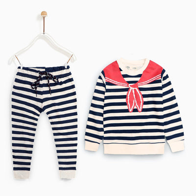 Zr kids 2 piece printed striped suit (1576)