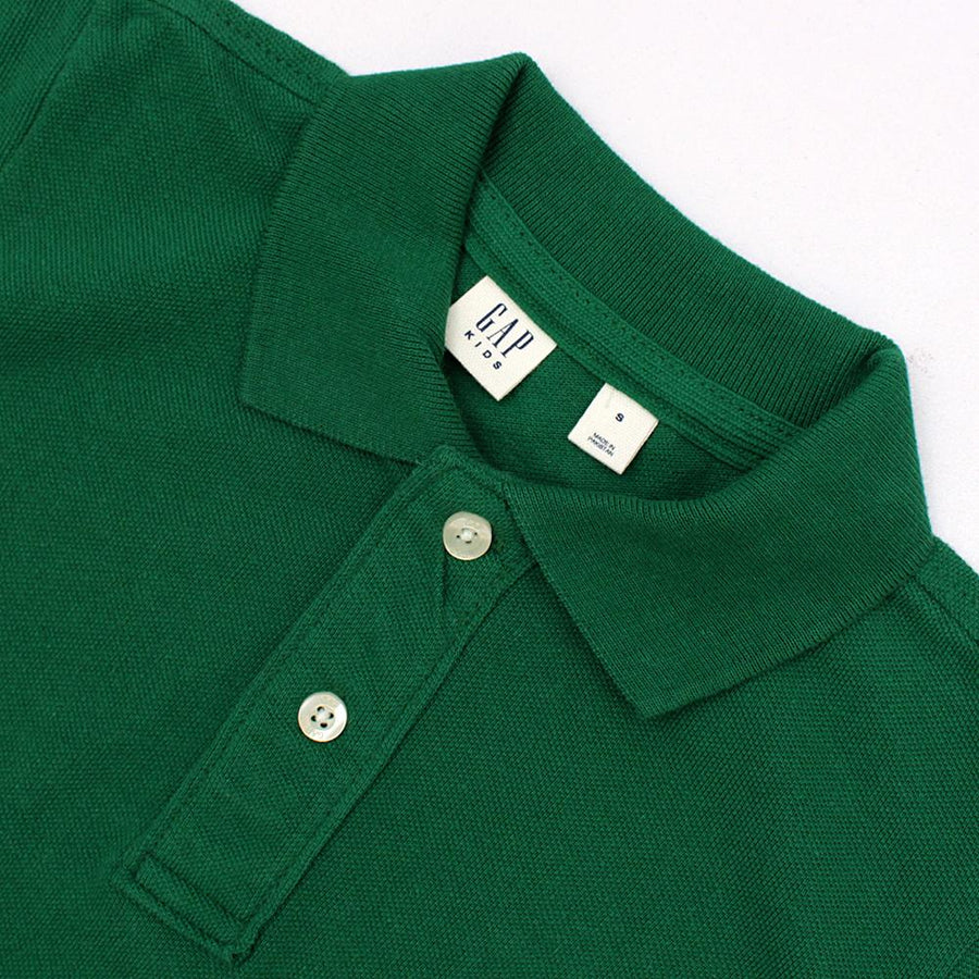 Boys green short sleeve polo (807)