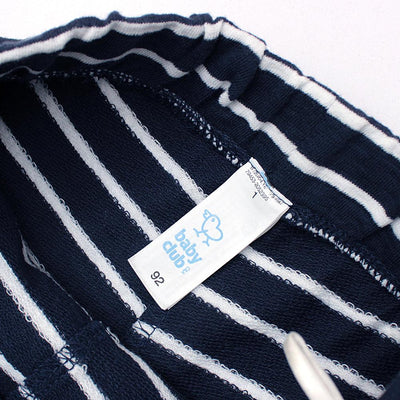 Kids organic cotton short with stripes (810)