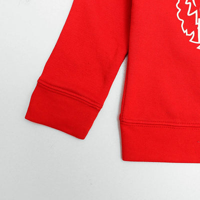 Zr kids red printed fleece sweatshirt (1569)
