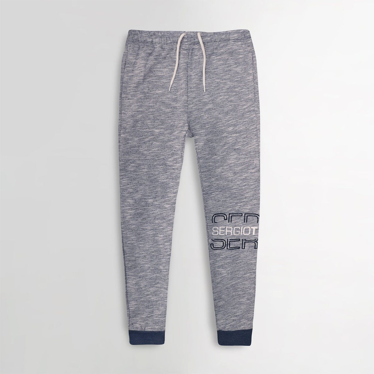 Men Exclusive Textured Grey Slim Fit Printed Jogger Trouser (30269)