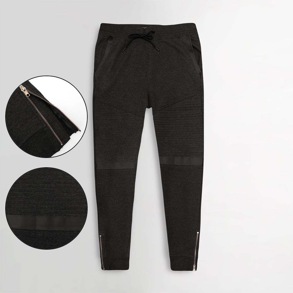 Max Charcoal Terry Jogger Trouser with Zipper Bottom (30069)