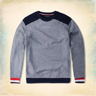 FUEL MAN-textured weave red ribbon quilted sweatshirt