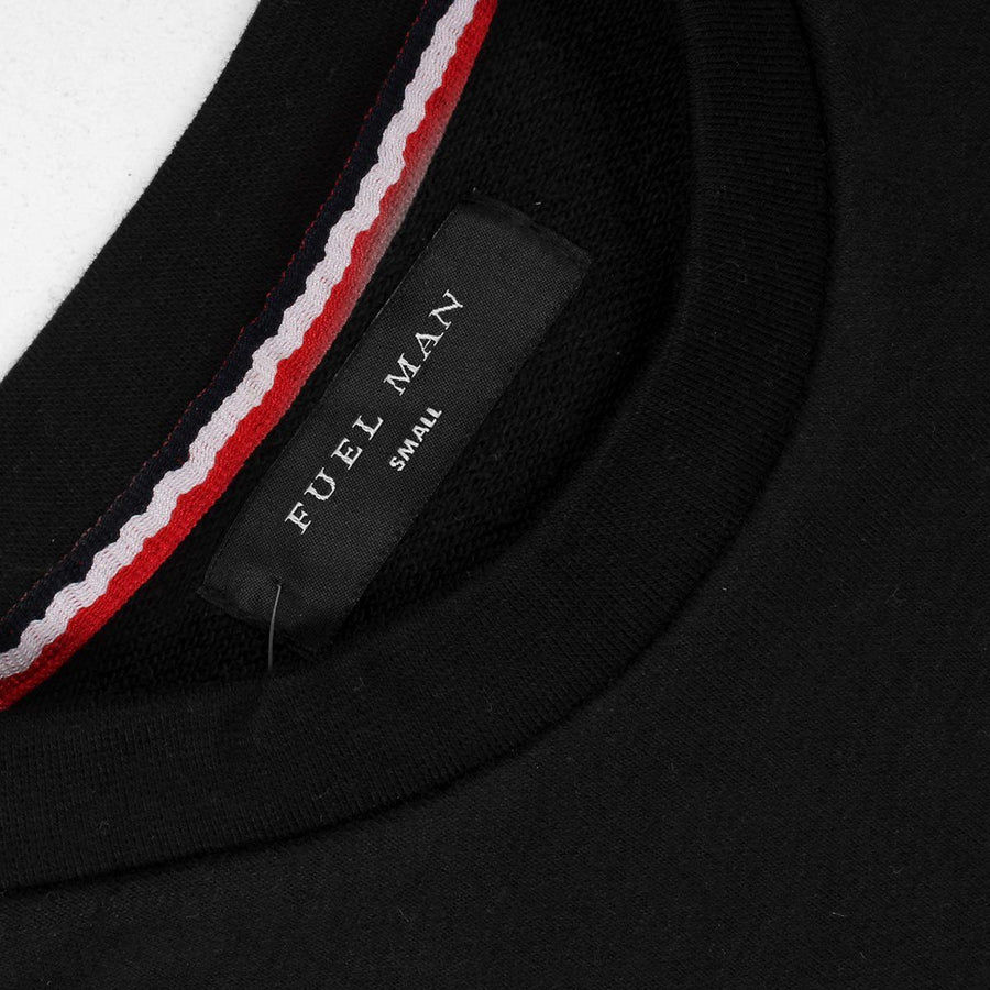 FUEL MAN-black red ribbon sweatshirt