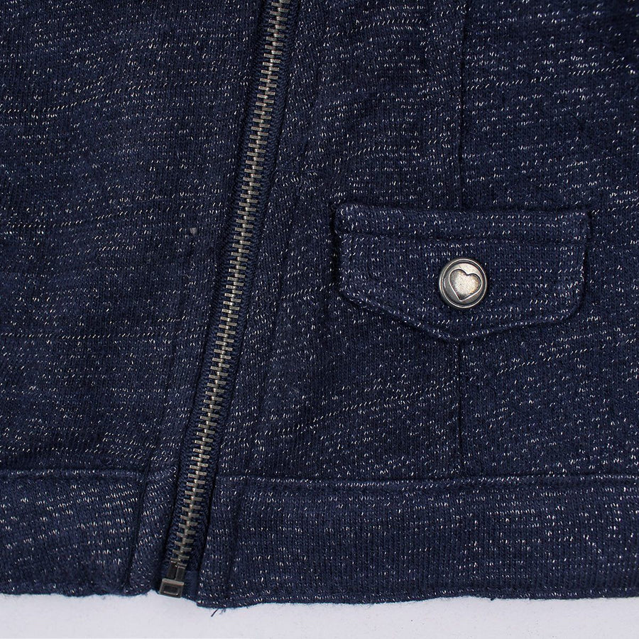 Exclusive baby girl navy glittered zipper jacket (1419)